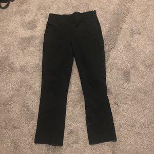 Black crop kick flare pants